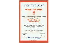 romet3 certyfikat