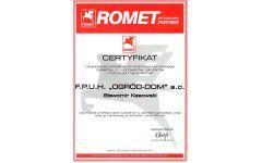 romet2 certyfikat