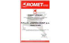 romet certyfikat